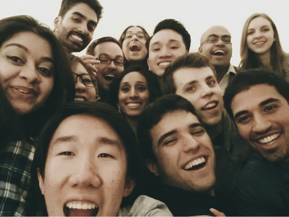 A selfie taken at the Ted Rogers Management Conference