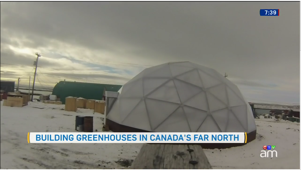 The completed Growing North greenhouse.