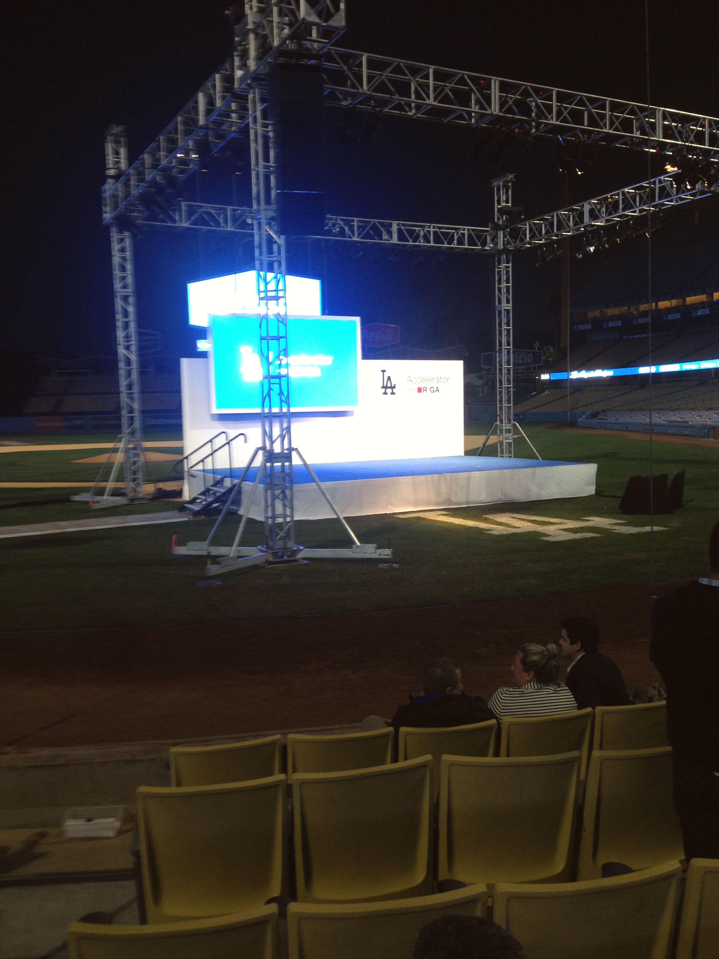 Presentation stage at Dodgers Accelerator