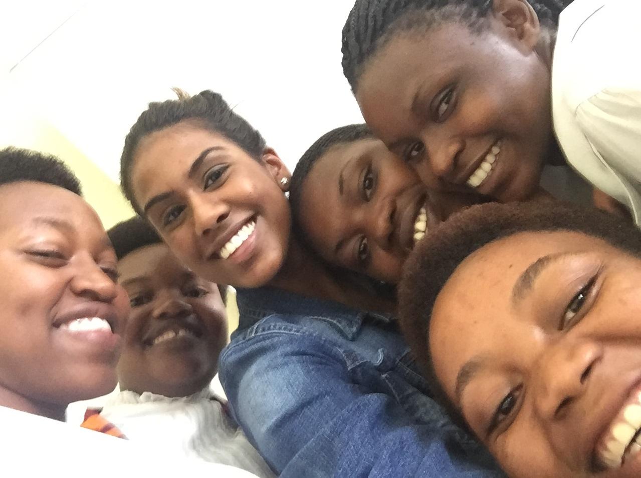 The group of girls I worked with. (Josephine, Claudine, Josette, Joyeuse, Missing: Souzane)