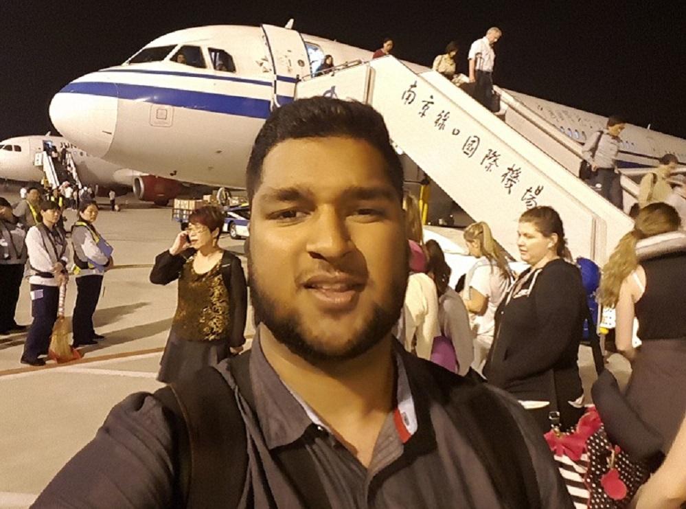 Landing in Nanjing
