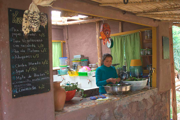 Woman in Community Kitchen