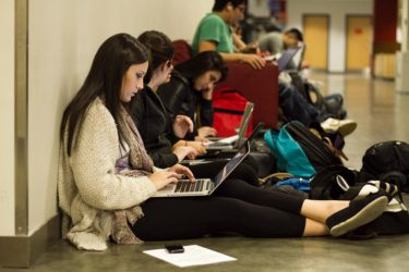 Students studying at TRSM