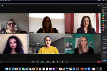 All-Female broadcast panel on Zoom